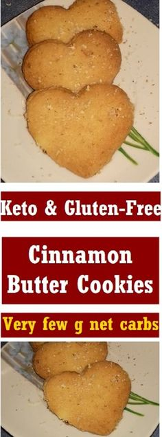 Low-Carb & Gluten-Free Almond Cinnamon Butter Cookies Ingredients: 2 cups blanched almond flour cup butter ( room temp) 1 egg cup sweetener (such as Swerve or Erythritol) 1 teaspoon sugar-free vanilla extract 1 teaspoon ground cinnamon Gluten Free Desserts, Gluten Free Recipes, Low Carb Recipes, Cooking Recipes, Keto Desserts, Low Carb Deserts, Low Carb Sweets, Keto Cookies, Sugar Cookies