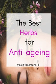 th ebest herbs for anti-ageing, a look at the 7 best herbs to help you look youthrful and the healing properties they contain Herbs For Health, Healthy Herbs, Lighten Scars, Dental Fillings, Slippery Elm, Increase Stamina, Ayurvedic Herbs, Sounds Good To Me, Natural Stress Relief