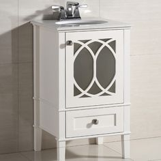 "Simpli Home Paige 21"" Single Bathroom Vanity Chest Set & Reviews 