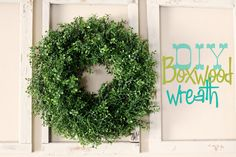 Oh!  I need a spring wreath and I like the simplicity of this one