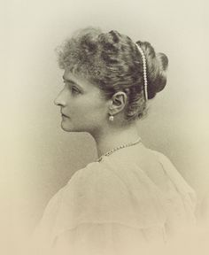 A series of formal images from 1895 depicting the young and beautiful Empress Alexandra Fyodorovna