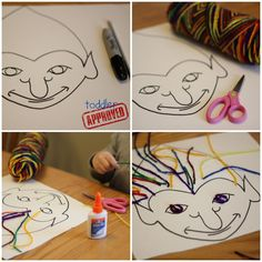Toddler Approved!: Simple Jan Brett Inspired Activities {Virtual Book Club Blog Hop} Preschool Crafts, Crafts For Kids, Preschool Winter, Kids Activities At Home, Frozen Crafts, Troll Party, Jan Brett, Author Studies, Art Lessons Elementary