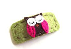 Owl Hair Clip-  Wool Felt , via Etsy.