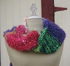 SALE Long Vegan Patchwork Gypsy Fringe Scarf by PurpleSageDesignz, $25.00