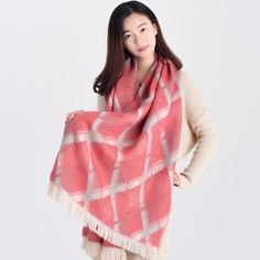 http://www.buyhathats.com/red-and-gray-plaid-scarf-tassels-womens-fall-oversized-shawl.html