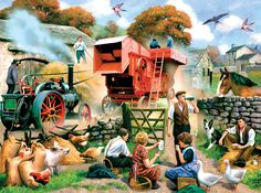 Finished size: 20 x Artist: Kevin Walsh. Released January puzzles are made in the USAEco-friendly soy-based inksRecycled boardsNot sold in mass-market stores Paintings I Love, Beautiful Paintings, Jigsaw Puzzels, Arte Country, Country Life, Country Living, Sunsout Puzzles, Nostalgic Art, London History