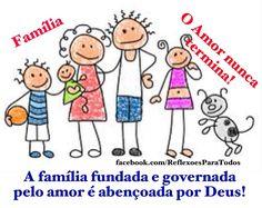 """""""A família deve ser fundada e governada com amor"""", com links para a Oração à Sagrada Família (Papa Francisco) e outras mensagens >> acesse."""