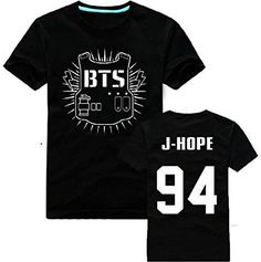 Fanstown BTS bangtan boy official same cartoon T shirt J-HOPE Jinmin V Rap monster