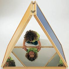 Small Mirror Tent - this beautiful triangular mirror tent allows children to observe themselves from all angles and helps them to develop their unique sense of self.