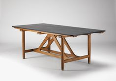 Børge Mogensen. Oak table with slate top. Denmark, 1951