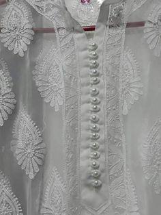 Underwear Pattern, Anarkali Kurti, White White, Fashion Wear, Hand Embroidery, Tunic, Sweaters, How To Wear, Shirts