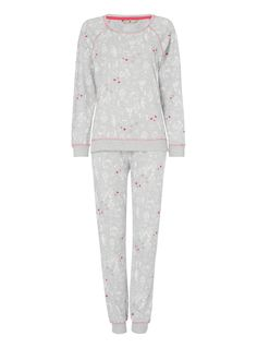 Womens Grey Penguin Gift Pyjamas | Tu clothing