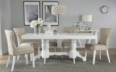 Chatsworth White Extending Dining Table