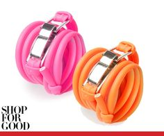 Altuzarra rubber tubing bracelet, $70 each  Kirna Zabête, NYC, 212.941.9656