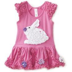 Love U Lots Baby-girls Infant Ruffle Bunny Drop Waist Dress with Daisies $47.00
