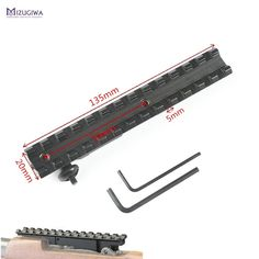 MIZUGIWA Tactical 13 Slots 135mm Picatinny Weaver 20mm Rail Scope Mount Fit K98 GEW98 24 Scout Base Rifle Gun  Price: 14.99 & FREE Shipping  #clothing|#fashion|#Beauty