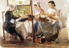 Max Liebermann - 1881 - Encajeras
