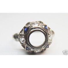 A personal favorite from my Etsy shop https://www.etsy.com/listing/260766856/antique-diamond-synthetic-sapphire-white