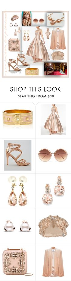 """""""my red carpet look in blush"""" by caroline-buster-brown ❤ liked on Polyvore featuring Foundrae, Betsy & Adam, New Look, Linda Farrow, Valentin Magro, BillyTheTree, Elisabetta Franchi, Manolo Blahnik, Michael Kors and RedCarpet"""