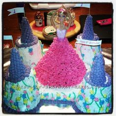 Cool Princess Cake For a Little Princess... This website is the Pinterest of birthday cake ideas