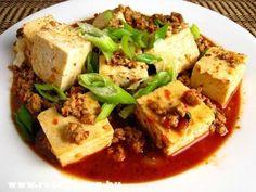 Tofu kockák szója pörkölttel