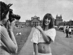 Jane Birkin at Blenheim Palace.