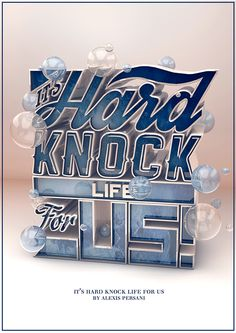 inspiration Hard knock life by Alexis Persani Cool Typography, Typography Letters, Graphic Design Typography, Lettering Design, Hand Lettering, Typography Drawing, Typography Served, Design Fonte, Design 3d