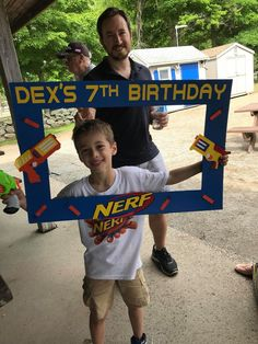 Best Picture For Nerf Gun Party centerpiece For Your Taste You are looking for something, and it is Kids Party Themes, Birthday Party Decorations, Party Ideas, 7th Birthday Party For Boys, Birthday Ideas, Nerf Party, Nerf Gun, Birthdays, Ideas Party