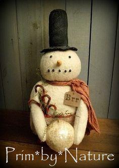 Primitive Snowman Artist Doll with Candy Canes Top Hat and Scarf Prim Christmas Primitive Snowmen, Primitive Folk Art, Primitive Crafts, Country Primitive, Felt Snowman, Snowman Crafts, Christmas Crafts, Primitive Christmas, Christmas Diy