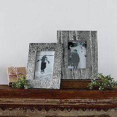 These look perfect for my mantel. Decorative Holiday Metal Picture Frames | The Company Store