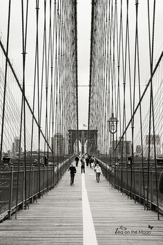 brooklyn bridge New York by Tea on the moon ♥ begoña ♥,