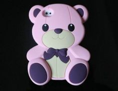 Cute 3D Teddy Bear Silicone Soft Case Cover Skin for iPhone 5