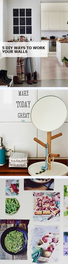From chalkboard signs to memory collages, check out 5 simple and creative IKEA DIY ways to spice up your walls and accessorize your room! Ikea Hacks, Diy Home Decor, Room Decor, Wall Decor, Wall Art, Diy Inspiration, Furniture Inspiration, Diy Home Improvement, My Living Room