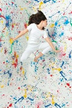 Splatter Paint Canvas Get Messy Lines Created With