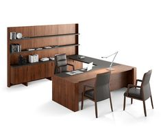 Freeport sistema despacho con libreria by Ofifran Office Table Design, Home Office Design, House Design, Office Designs, Bachelor Pad Décor, Contemporary Home Offices, Contemporary Design, Modern Office Desk, Luxury Office
