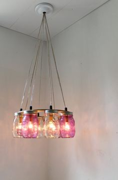 PURPLE Passion MASON Jar Chandelier by Jeff and Mark