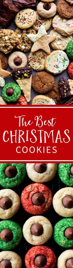 50+ fun and festive Christmas cookie recipes on sallysbakingaddiction.com