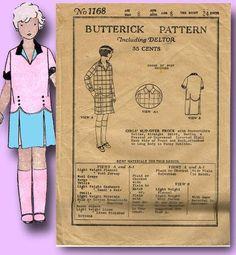 1920s Original Sweet Butterick Toddler Dress Pattern Flapper Flare Sz 6   eBay