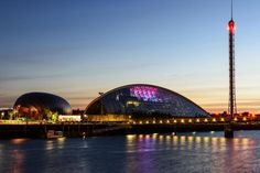 Tourist Attractions in Glasgow - Find top tourist attractions and places to visit in Glasgow, Scotland which include Riverside Museum, Glasgow Science Centre, Burrell Collection and more. Scotland Map, Glasgow Scotland, Scotland Tourist Attractions, Riverside Museum, Commonwealth Games, Sydney Harbour Bridge, Places To Visit, Centre, Building