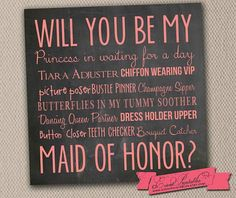 Will You Be My Maid of Honor Card Instant by EventPrintables, $10.00