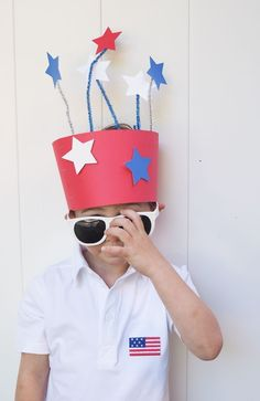 Toddler Crafts, Preschool Crafts, Crafts For Kids, Daycare Crafts, Daycare Ideas, Summer Crafts, Patriotic Hats, Patriotic Outfit, Blue Crafts