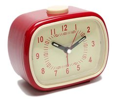 Two things I love: red and knowing the time.
