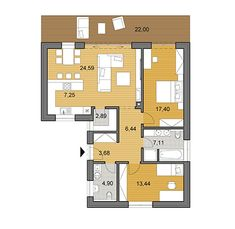 House plans - choose your house by floor plan One Floor House Plans, Sims House Plans, Apartment Floor Plans, Nice Houses, Cottages, Habitats, Bungalow, My House, Home Goods