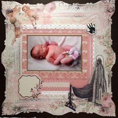 welcome - Kaisercraft - Bundle of Joy Collection - 12 x 12 Die Cut Paper - It's a Girl