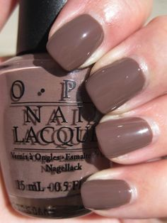 OPI Over The Taupe...one of my fa's right now. Besides the matte finish ones :)