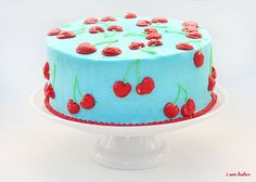 Cherry cherry cake; might have to make this for my birthday!