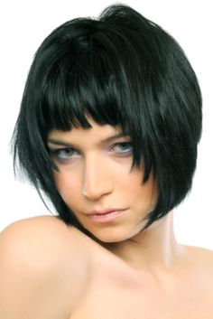 Find short bob hairstyles and photos of short hair styles bob to present the perfect look to best suit the length of your short hair. Short Choppy Hair, Short Hair With Bangs, Haircuts With Bangs, Short Bob Hairstyles, Diy Hairstyles, Short Hair Cuts, Short Hair Styles, Choppy Bangs, Blunt Bangs