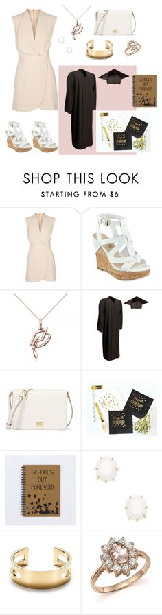 """""""Untitled #106"""" by vianneyfrias ❤ liked on Polyvore featuring Finders Keepers, GUESS, Allurez, Dolce&Gabbana, Kendra Scott, Tiffany & Co., Bloomingdale's and graduationdaydress"""