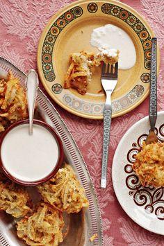 onion and potato bhaji pakoras