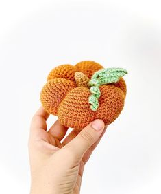 Start crocheting with DMC Just Natura Cotton to make this adorable pumpkin! Crocheted by @latelierdekais, pattern by @socroch. Fall Crafts, Craft Projects, Crochet Earrings, Pumpkin, Colours, Pattern, Cotton, Inspiration, Amigurumi